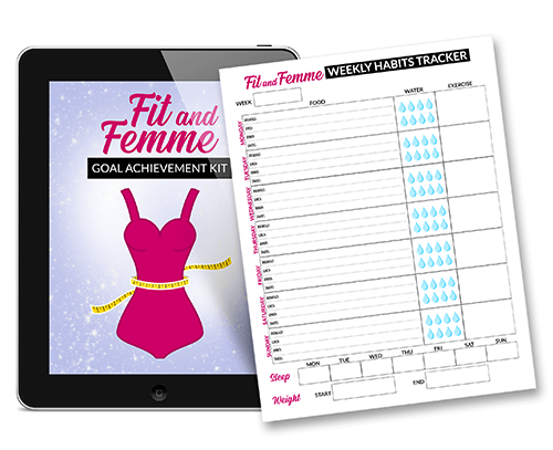 Fit and Femme - Weekly Habits Tracker