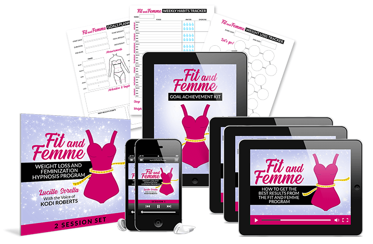 Fit and Femme - Weight Loss and Feminization Hypnosis Program Session Set